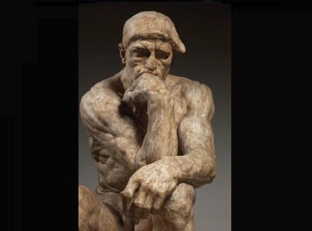 "Auguste Rodin: ""Der Denker"", große Version, 1903, patinierte Gips für Bronzeguss, 182 x 108 x 141 cm. Paris, Musée Rodin. Foto: Musée Rodin / Christian Baraja"