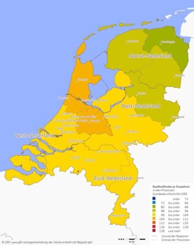 Kaufkraft Niederlande 2016.