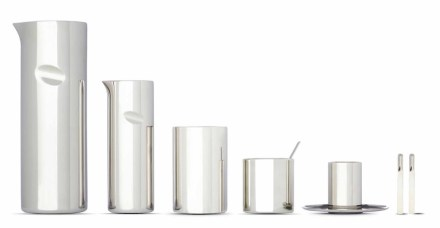 """Jean Nouvel, mes meubles d'architecte"": Coffee Cylinder, 2003, Museo Alessi."