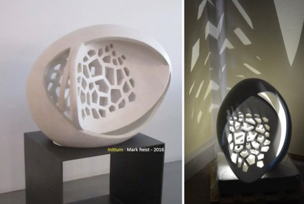 3D-printers can produce complex structures using stone-meal and a cohesive binder. Photo: Desamanera