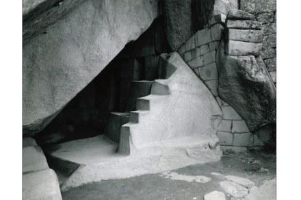 "Photo by Elyn Zimmerman, ""Machu Picchu""."