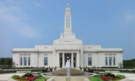 Award of Merit, Commercial Exterior: Indianapolis Temple in Carmel, Indiana.