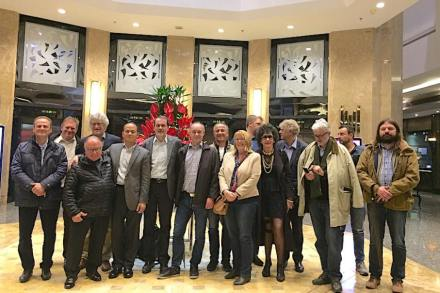Part of the Euroroc-visitor's group after the farewell-dinner. Photo: Reiner Krug
