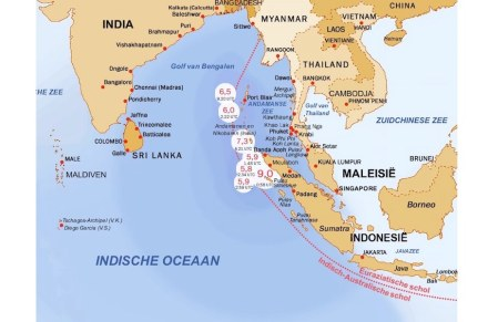 In the subduction zone before Sumatra the Indian-Australian plate slides under the Eurasian Plate.