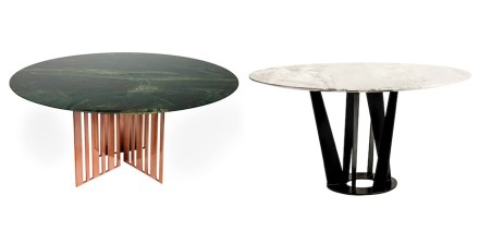 Brazilian furniture company Sette 7 presented a table with a top in Greenpeace Quartzite.