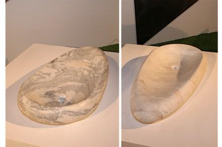 A presentation in Brazilian design at the Università degli Studi. Abirochas, Brazil's natural stone umbrella trade organization had invited designer Ludson Zampirolli to present some stones in household items.