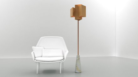 "Ventura Lambrate: lamp with natural stone, <a href=""http://www.ionproject.com/unique/""target=""_blank"">ION Project Lighting</a>."