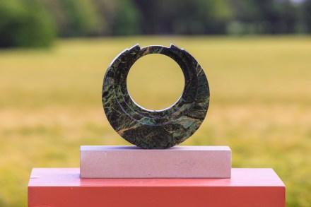 "Richard Healy: ""Torc"", Conemara Marble / Portland Base, 36 x 32 cm."