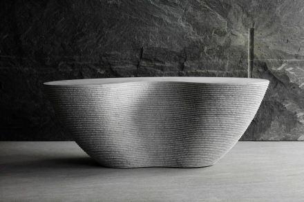 """Cynthia Sah: """"Bean Bench"""", Carrara white marble, 118 x 52 x 47 cm, 2016. Photo: Q. Bertoux"""