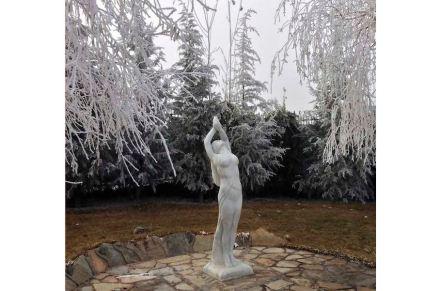 """Arayış"" (Prayer), 220x70x70cm, Mugla marble."