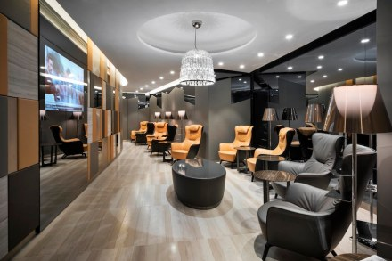 Studio marco piva vip lounges for alitalia with marble for Case vip roma