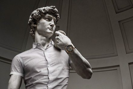 "Leo Caillard: ""Hipsters in Stone II"" (not in the Louvre)."