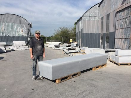 McKeon Stone: Kilkenny Blue Limestone benches for Facebook.
