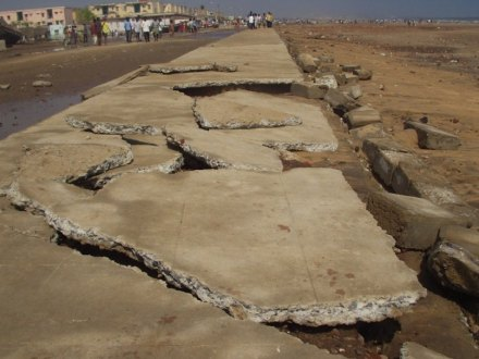 A strong earthquake 2004 in the Indian Ocean caused damage still in Chennai in China. Photo: Wikimedia Commons