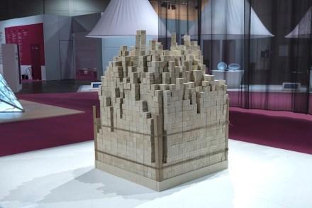 """""""The Eternity & the Ephemeral"""". Studio: Open Architecture; company: Pimar; material: Pietra di Lecce."""