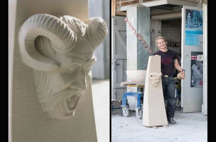 """Die Gute Form""; Stephanie Roth (stonemasonry with focus on stonesculpting)."