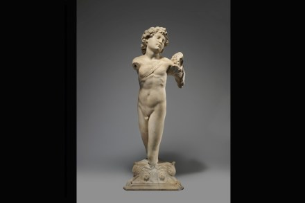 """Young Archer"", Michelangelo's first know sculpture, ca. 1490 Marble. The Metropolitan Museum of Art, lent by the French State, Ministry of Foreign and European Affairs."