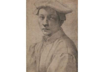 Portrait of Andrea Quaratesi, Michelangelo, 1532. Drawing, black chalk. The British Museum, London.