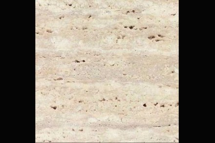 Ararat travertine, semi-polished, unfilled, vein cut.
