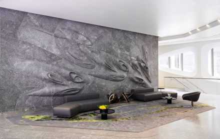 Grande Pinnacle Award: Stone works inside 520 W 28th Street in New York City.
