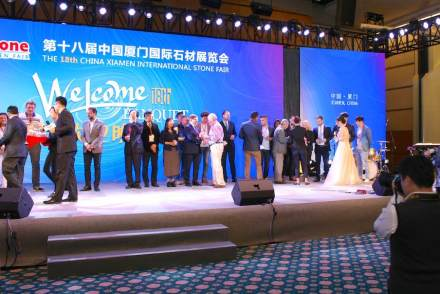Xiamen Stone Fair 2018: Lottery during the banquett.