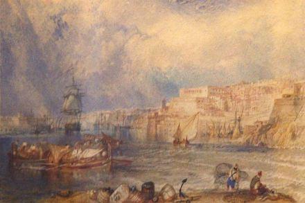 Alles gelblich-grauer Kalkstein: Willam Turners Gemälde vom Häfen von La Valletta im National Museum of Fine Arts in Malta. Quelle: Wikimedia Commons