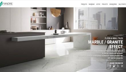 """Der große Keramikhersteller Fiandre - ehemals: Graniti Fiandre - verwendet die Bezeichnung """"Marble/Granite effect""""."""