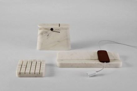 """Gäste"" 2. Preis: Filippo Protasoni, Schreibtischobjekte ""Nove-Diciotto""."