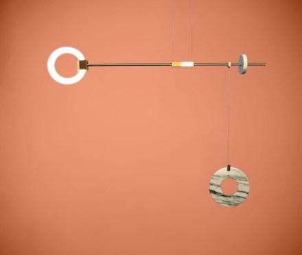"""Lamp """"Libra"""" by Chris Basias, <a href=""""http://www.ctlights.gr/""""target=""""_blank"""">CT Lights</a>, Athens. Photo: CT Lights"""