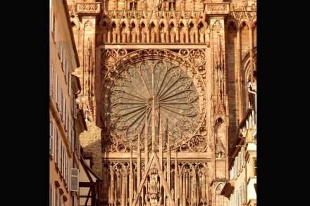 Detail der Westfassade am Straßburger Münster. Foto: Wikimedia Commons