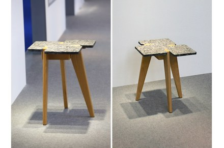 UMGG showed a side table, in which stone and wood were held together by means of traditional mortise and tenon joints.