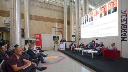Podium discussion at the Marble Trade Fair in Izmir, 2018.