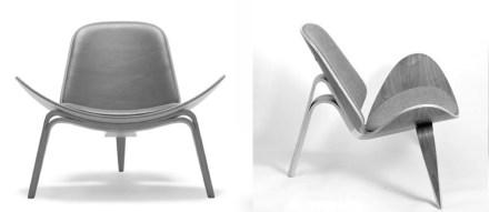 "Hans J. Wegner ""Shell Chair"" (1963)."