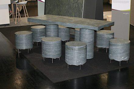 "Presentation ""Unser Naturstein"": seatings, <a href=""https://www.bagnara.net/""target=""_blank"">Nikolaus Bagnara</a>."