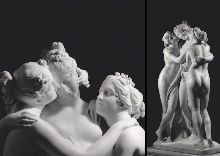 "Antonio Canova, ""The Three Graces"", 1812–16 (detail). Source: Aurelio Amendola / State Hermitage Museum, St Petersburg"