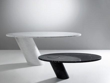 """Angelo Mangiarotti: """"Eccentrico"""" table (1973)."""