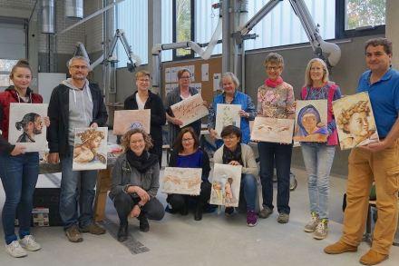 Die Teilnehmer des EFBZ-Kurses in Freskomalerei.