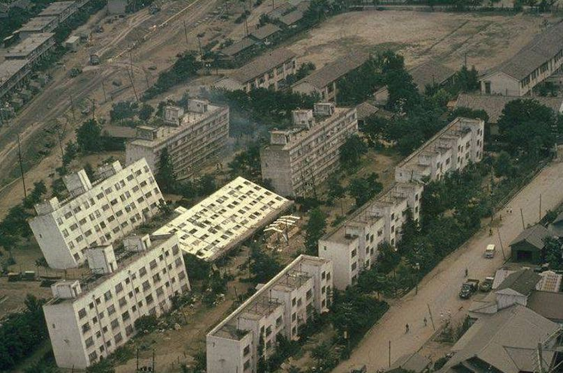 At the Palu earthquake in Indonesia, soil liquefaction caused ...