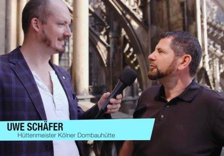 Der Rasende MIRO-Reporter am Kölner Dom.