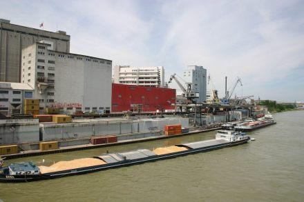 Blick von der Dreirosenbrücke: Das Ufer im Jahr 2006...