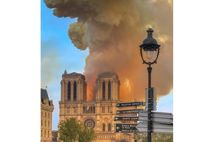 "Notre-Dame, Paris, on the evening of April 15, 2019. Photo: Milliped / <a href=""https://commons.wikimedia.org/""target=""_blank"">Wikimedia Commons</a>"