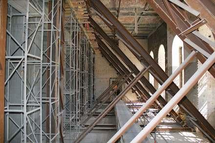 Behelfskonstruktion während der Baumaßnahme im Nordflügel. Foto: Peter Becker