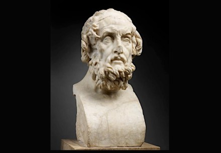 Imaginary portrait of Homer, 2nd century AD, after a Greek original created around 150 BC, Paris, musée du Louvre. Photo: Louvre / Thierry Ollivier