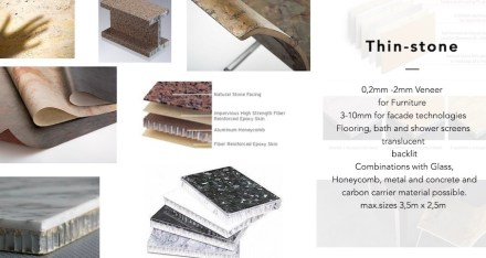 The company's focus will be on focus super-thin stone panels. Screenshot of the webpage of Balke&Partner.
