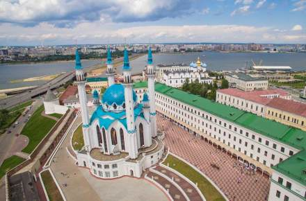 The Kul Sharif Mosque in Kazan.