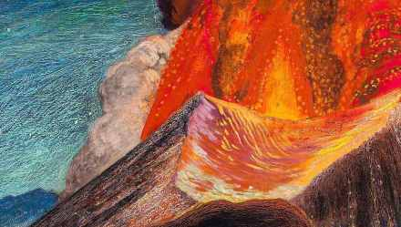 Eruption of the Paricutín (detail), Dr. Atl. Museo Nacional de Arte, INBA.