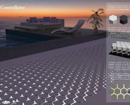 """One of the winners of last year's 13th Cosentino Design Challenge in the design category: """"Constellatio"""" by Henar Martínez Casais and Santiago Álvarez Bouza from the Escuela de Ingenierías Industriales de la Universidad de Valladolid (detail)."""