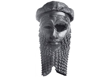 """Bronze head of an Akkadian King, found in Ninive, orbably Sargon of Akkad or his grandson Naram-Sin. Source: Iraqi Directorate General of Antiquities / <a href=""""https://commons.wikimedia.org/""""target=""""_blank"""">Wikimedia Commons</a>"""