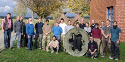Foto von den diesjährigen Wettbewerben im Steinmetzzentrum Königslutter.