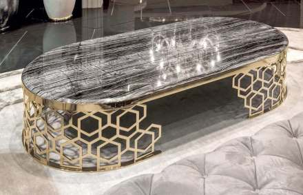 """Longhi: table """"Manfred"""", with a base refering to traditional """"Mashrabiya"""" decoration."""